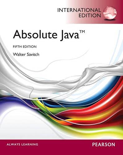 9780273764793: Absolute Java. Walter Savitch