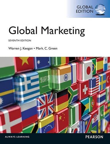 Global Marketing: Global Edition (0273766716) by Warren Keegan; Mark Green