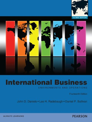 International Business: Global Edition: Daniels, John, Radebaugh,