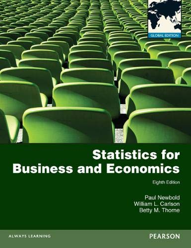 9780273767060: Statistics for Business and Economics