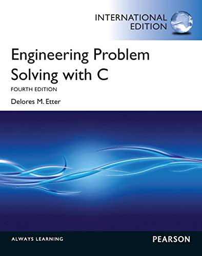 9780273768203: Engineering Problem Solving with C. Delores M. Etter