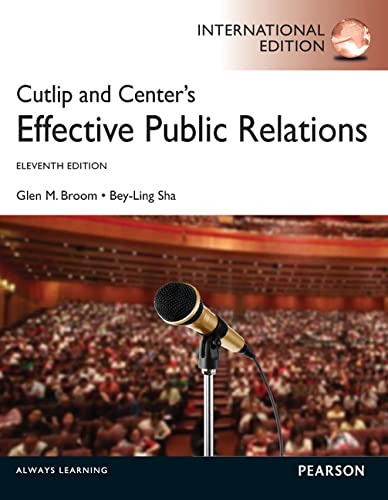 9780273768395: Cutlip and Center's Effective Public Relations