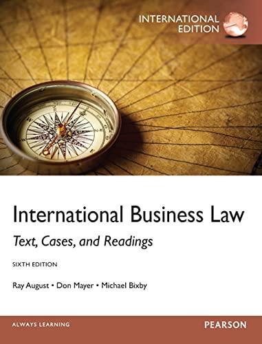 9780273768616: International Business Law: International Edition
