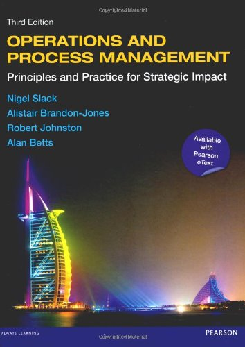 9780273768807: Operations and Process Management with eText: Principles and Practice for Strategic Impact