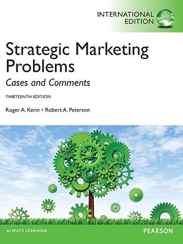 9780273768944: Strategic Marketing Problems