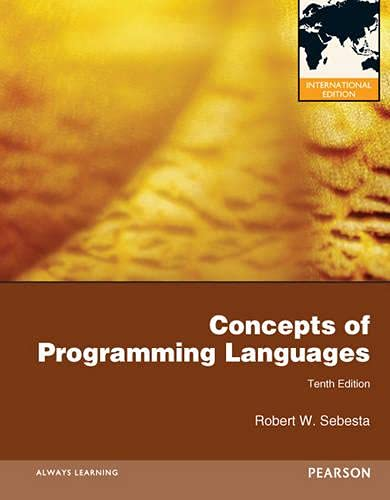 9780273769101: Concepts of Programming Languages,10th Edition