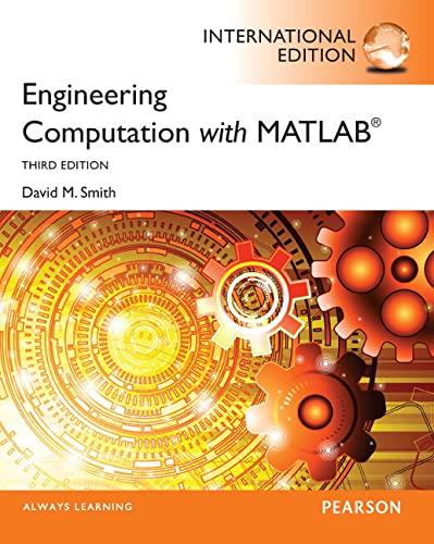 9780273769132: Engineering Computation with MATLAB: International Edition
