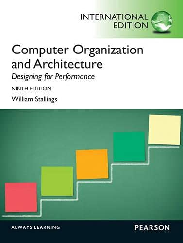 9780273769194: Computer Organization and Architecture: International Edition
