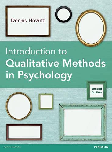 9780273770060: Introduction to Qualitative Methods in Psychology, 2nd edition