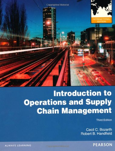 9780273770084: Introduction to Operations and Supply Chain Management: International Edition