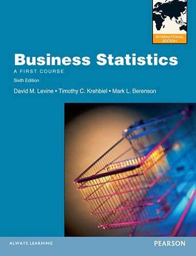 9780273770923: Business Statistics. David M. Levine, Timothy C. Krehbiel, Mark L. Berenson