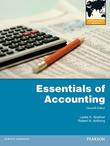 9780273771463: Essentials of Accounting