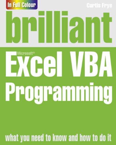 9780273771975: Brilliant Excel VBA Programming