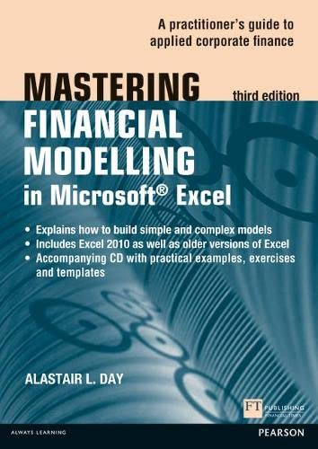 9780273772255: Mastering Financial Modelling in Microsoft Excel 3rd edn: A Practitioner's Guide to Applied Corporate Finance (3rd Edition) (The Mastering Series)