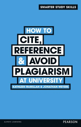 9780273773337: How to Cite, Reference & Avoid Plagiarism at University (Smarter Study Skills)
