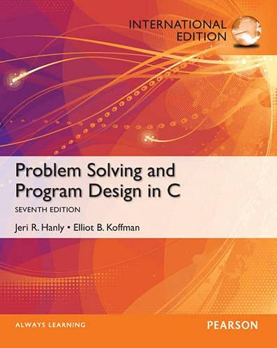 9780273774198: Problem Solving and Program Design in C