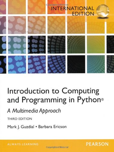 9780273774549: Introduction to Computing and Programming in Python