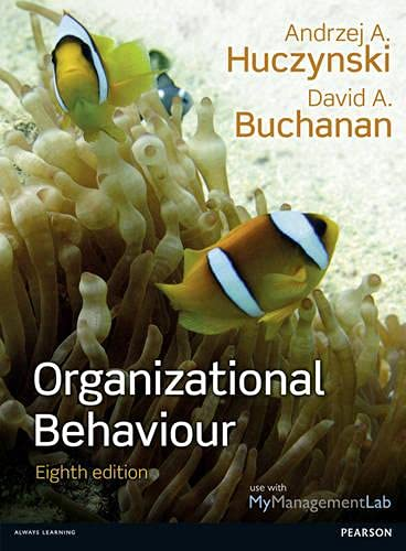 Organizational Behaviour: Buchanan, Prof David
