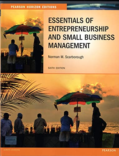 9780273779735: Essentials of Entrepreneurship and Small Business Management