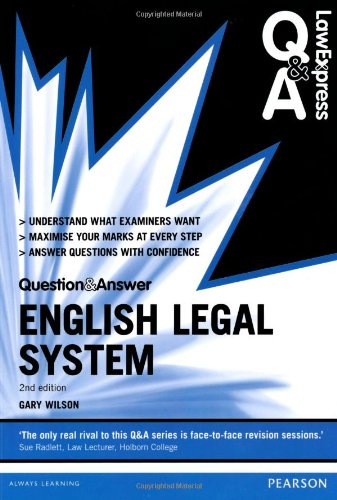9780273783435: Law Express Question and Answer: English Legal System 2nd edn (Law Express Questions & Answers)
