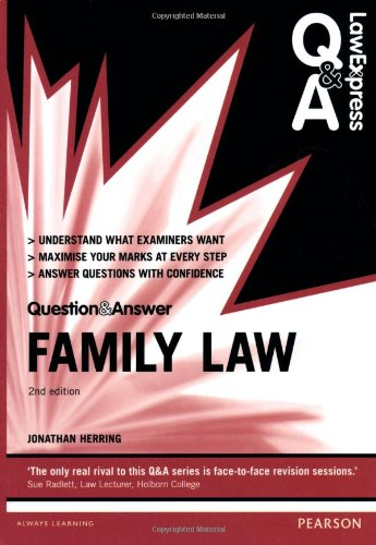 9780273783633: Law Express Question and Answer: Family Law (Law Express Questions & Answers)