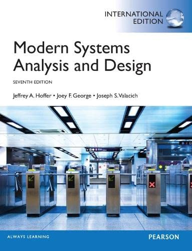 9780273787099: Modern Systems Analysis and Design