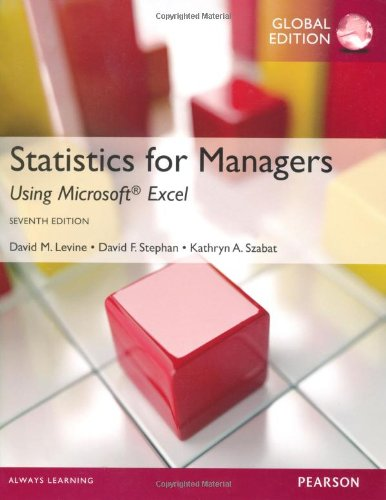 9780273787112: Statistics for Managers Using MS Excel