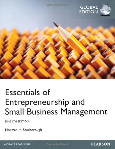 Essentials of Entrepreneurship and Smal: by Norman M