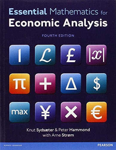9780273787624: Essential Mathematics for Economic Analysis