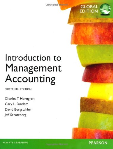9780273790679: Introduction to Management Accounting, plus MyAccountingLab with Pearson eText, Global Edition