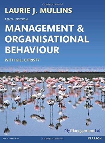 9780273792642: Management & Organisational Behavoiur