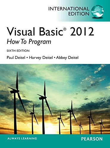 9780273793281: Visual Basic 2012 How to Program, International Edition