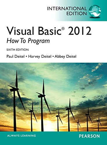 9780273793281: Visual Basic 2012 How to Program, International Edition