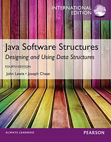 9780273793328: Java Software Structures,International Edition