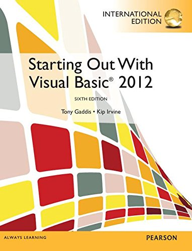 9780273793380: Starting Out with Visual Basic