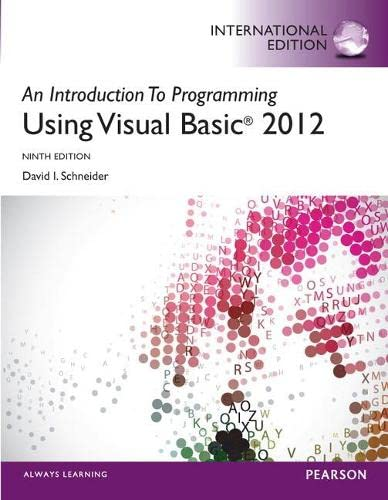 9780273794790: An Introduction to Programming with Visual Basic 2012 plus MyProgrammingLab with Pearson eText: International Edition