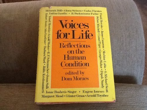 Voices for life;: Reflections on the human: Moraes, Dom F