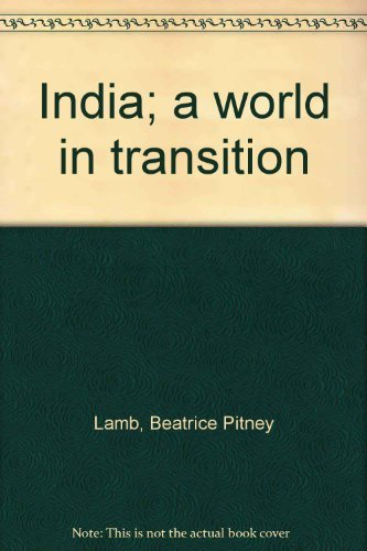 9780275850807: India; a world in transition