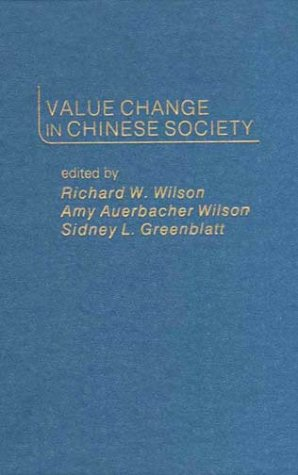 9780275904371: Value Change in Chinese Society