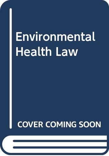 9780275911348: Environmental Health Law