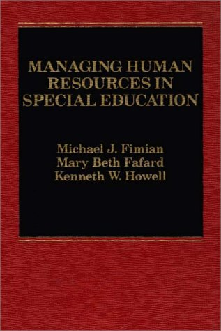 9780275911546: Managing Human Resources in Special Education