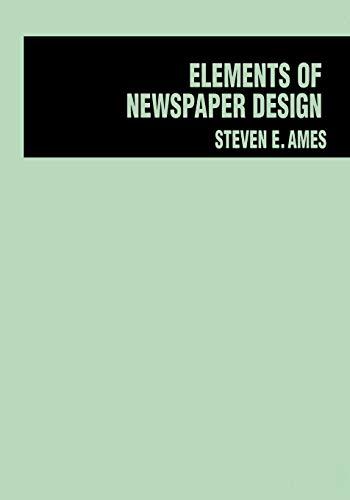 9780275924645: Elements of Newspaper Design