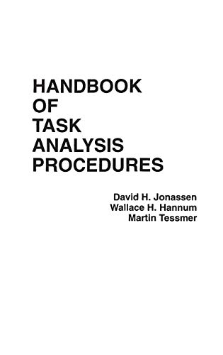 9780275926847: Handbook of Task Analysis Procedures