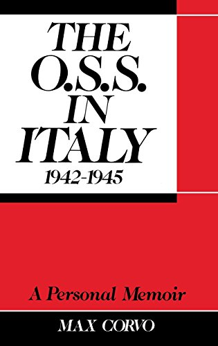 9780275933333: O.S.S. in Italy 1942-1945: A Personal Memoir