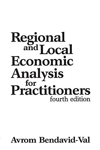 9780275937515: Regional and Local Economic Analysis for Practitioners, 4th Edition