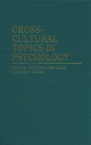 9780275945244: Cross-Cultural Topics in Psychology