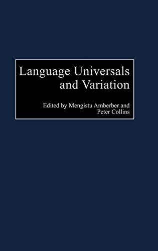 9780275976828: Language Universals and Variation (Perspectives on Cognitive Science)