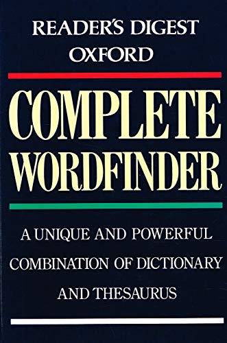 9780276421013: Oxford Complete Wordfinder