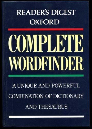 9780276421013: Oxford Complete Wordfinder