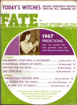 9780276567063: Fate Magazine, June 1967: Today's Witches (Vol. 20, No. 6)